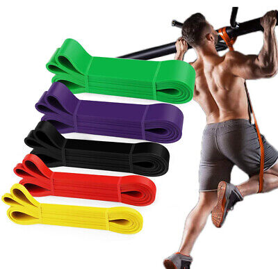 5 Color Heavy Duty Resistance Band Loop Power Gym Fitness Exercise Yoga Workout