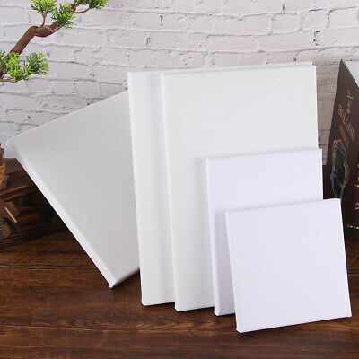 Blank Artist Canvas Art Board Plain Painting-Stretched Framed White Large Small-