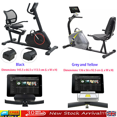 Home Gym Exercise Sport Bike with Pulse Magnetic Recumbent Indoor Cardio UK Ship