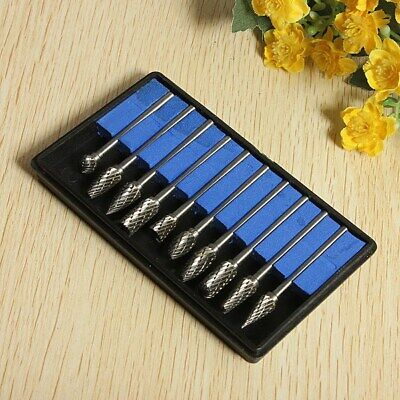 10Pcs Tungsten Steel Solid Carbide Burrs For Dremel Rotary Tool Bit Accessories