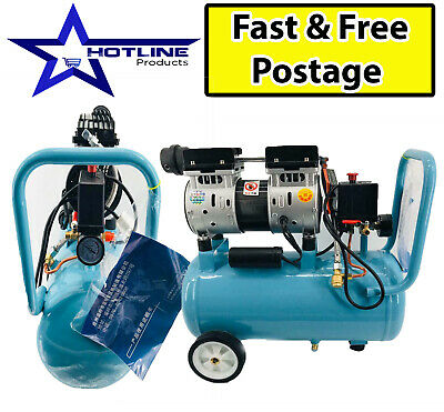 High Quality Air Compressor Oil Free   Low Noise Portable Air Machine With Tyres