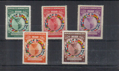 Dominican Republic 1940 Pan American Union set very lightly mounted mint