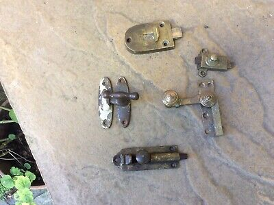 Vintage Furnitue Fittings Brass Sliding Locks. Door Locks .cupboard Door Locks.
