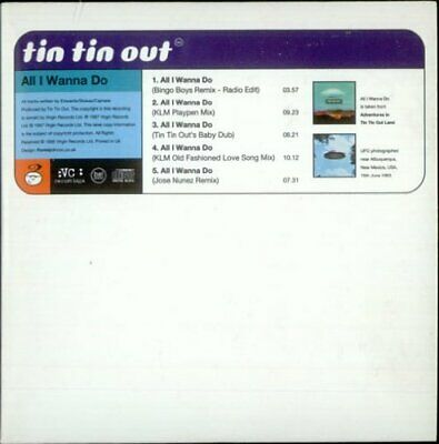 Tin Tin Out : All I Wanna Do CD Value Guaranteed from eBay's biggest seller!