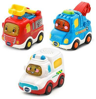 Vtech TOOT-TOOT DRIVERS 3 CAR PACK EMERGENCY VEHICLES Toys Games Children - NEW