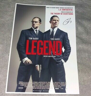 Tom Hardy. Legend Movie Poster With Printed Signature. Kray Twins. Free Uk P&P.