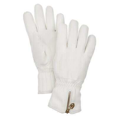 Hestra Womens Leather Swisswool Classic Glove White - MID SEASON SALE