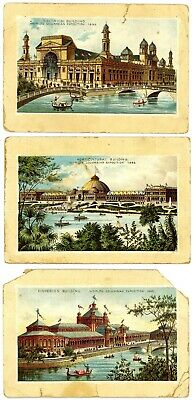 3 Jersey Coffee Trade Cards - Colorized, Worlds Fair 1893 Columbian Exposition
