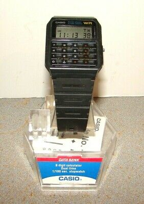 Vintage Casio Data Bank CA-53 Module 437 Calculator Wristwatch Watch