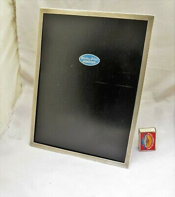 Large Sterling Silver Photograph Frame - Birmingham 1969 - Engine Turned 12 Inch