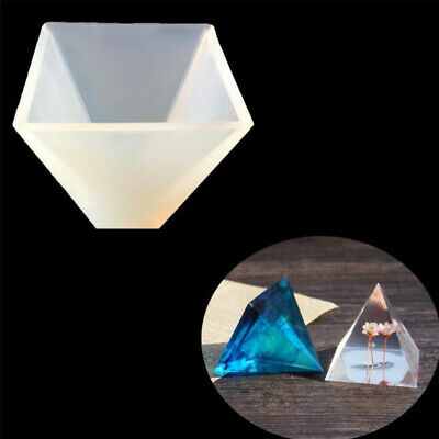 Mould Epoxy Pendant Jewelry Silicone Tool Making Resin Craft Pyramid Mold DIY