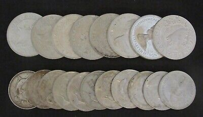 Lot of 19 Bahamas Silver Coins $1 and 50 Cents all .800 Silver