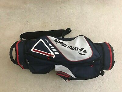TaylorMade 14-Way Golf Cart Bag  Blue/White/Red - Good Condition