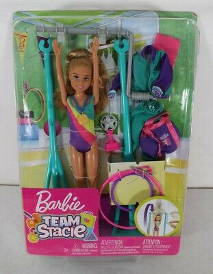 Barbie Team Stacie Gymnastics Playset Doll New Distressed Package Free Shipping