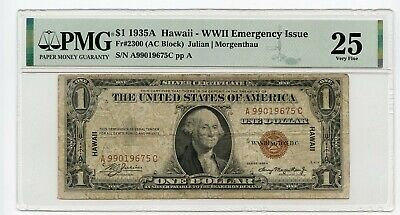 1935A $1 WWII Emergency Issue (Very Fine 25) PMG