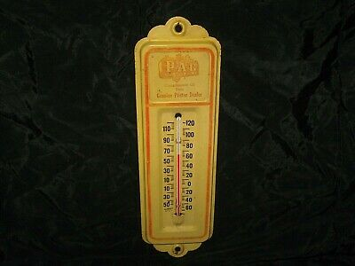 Vintage Old Pfister PAG Hybrid Seed Corn Metal Thermometer Farm Advertising