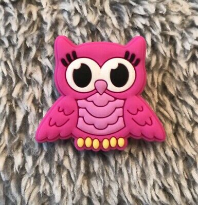 OWL Croc Charm / JIBBITZ 1PIECE : Magenta, Blue & Peach Color Available