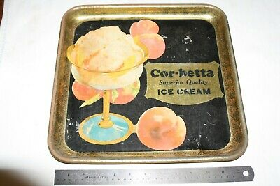 Vintage HTF Full Color c1930 Cor-betta Auperior Quality ICE CREAM Serving TRAY