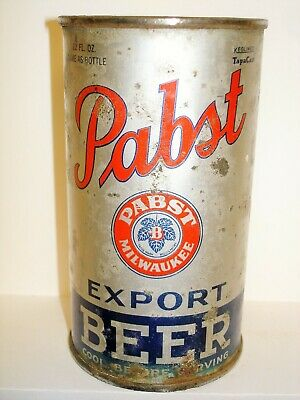 """PABST EXPORT """"OI/IRTP"""" (PREMIER - PABST) Flat Top  Beer Can J995"""