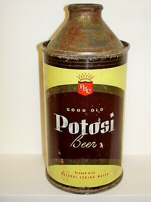 "POTOSI ""GOOD OLD"" BEER Cone Top  Beer Can J956"