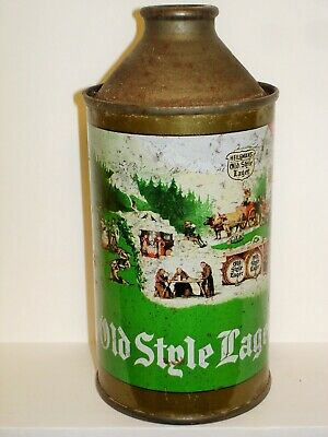 OLD STYLE LAGER BEER IRTP Cone Top  Beer Can J962