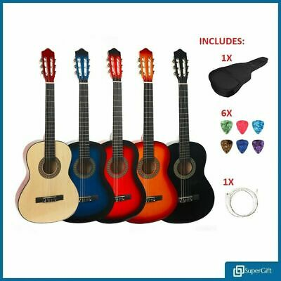 39'' Guitar Full Size 4/4 Beginner Classical Acoustic Pack Package 6 String Set