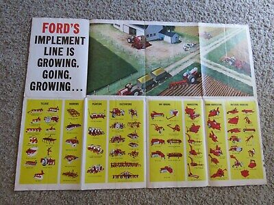 1961 FORD FARM TRACTORS and IMPLEMENTS Advertising Poster - ALPENA, MICHIGAN