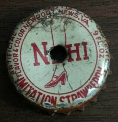 1930s NEHI SOFT DRINK / SODA BOTTLE CAP: IMITATION STRAWBERRY NEWPORT NEWS, VA