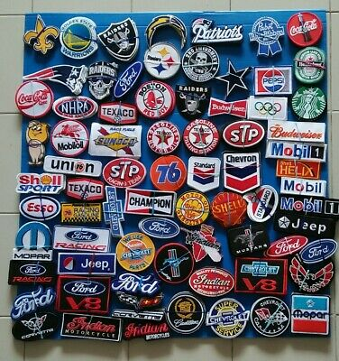 5 RAMDOM LOT SHELL ONLY Embroidered Easy Sew/Iron On PATCHES WITH FREE SHIPPING
