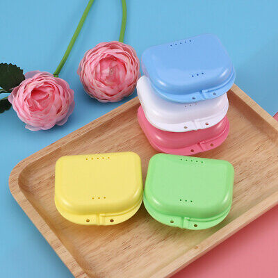 5Pcs Dental Retainer Storage Cases Box Orthodontic Mouthguard Denture Container