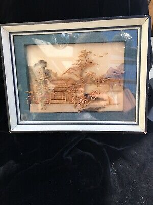 Small Old Cork Picture Japan? 3D