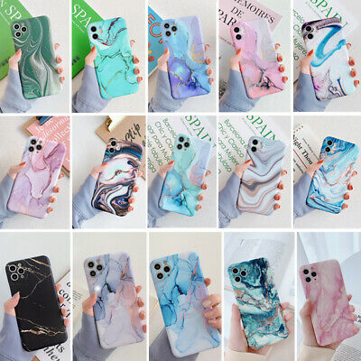 Colorful Marble Silicone Soft Case Cover For iPhone 11 Pro Max XS XR X 8 7 Plus