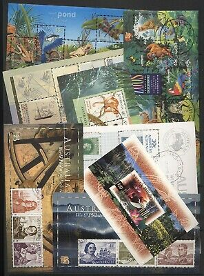 Australia Collection 8 Mini Sheets Used