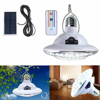 22LED Outdoor Indoor Shed Solar Bulb Lamp Hooking Garden Light Remote Control