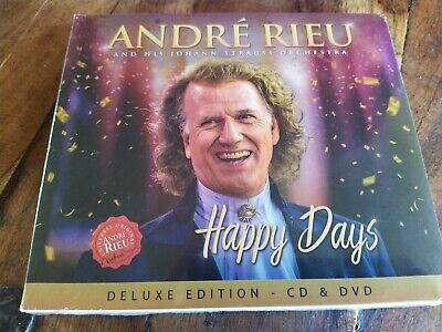 Andre Rieu Johann Strauss Orchestra Happy Days Deluxe CD/DVD New 2019