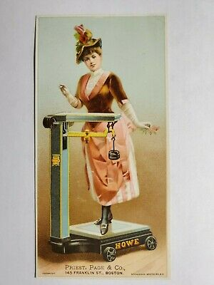 Late 1800's Trade Card Howe Scales Priest, Page & Co Boston NO Reserve