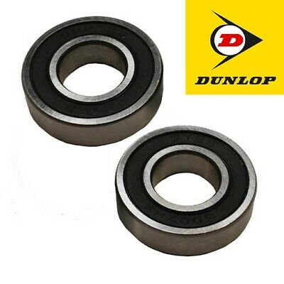TWO 6001-2RS RUBBER SEALED DUNLOP BEARINGS 12 x 28 x 8mm 1st Class Post - 6001RS