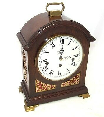 * Antique Style COMITTI LONDON Mahogany Bracket Mantel Clock WESTMINSTER CHIMES