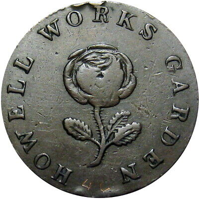 1835 Allaire New Jersey Hard Times Token Howell Works Rose Garden HT-201 Low 163