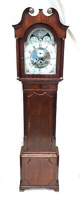 *Antique Rolling Moon Oak Mahogany Longcase Grandfather Clock LAWRENCE NORTHWICH