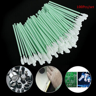 100pcs Sponge Cleaning Swaps Buds Foam Antistatic Form Sticks Swabs Solvent SJ0E