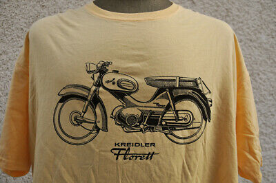 KREIDLER Florett ★ softly T-Shirt * NEU Siebdruck * Moped * Kornwestheim * maize