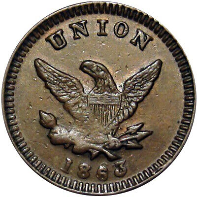 1863 Union Eagle by Childs of Chicago Patriotic Civil War Token R5