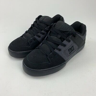 DC Shoes Mens Pure TX SE Skate Black 320423 Textile Lace Up Low Top 10 M New