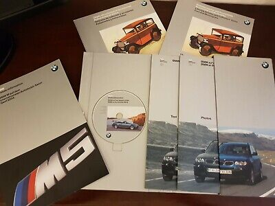 Cartelle stampa - BMW NAIAS 2004 Press Only folder with CD + Genf 2004 M5 - RARE