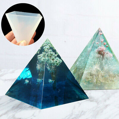 Silicone Making Jewelry Craft Tool Pyramid Mould Epoxy Mold Pendant Resin DIY