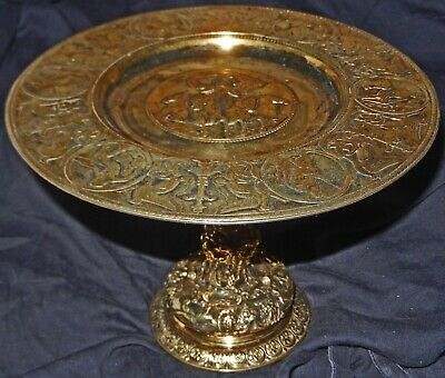 Exquisite Quality Antique Gold Plated Gilt Gilded Elkington & Co Tazza