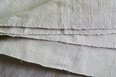 BEAUTIFUL HANDLOOMED HOMEPSUN FRENCH LINEN SHEET Antique French Rustic slubbyH45