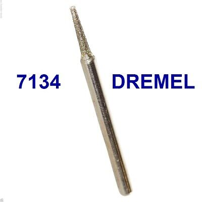 "NEW DREMEL AUTHENTIC DIAMOND WHEEL POINT BIT #7134 SHANK 3/32"", 2.4 mm"