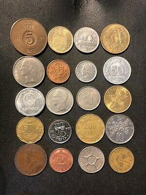 Coins of the World Lot - 20 Different Nations - FREE SHIP - Lot #M21
